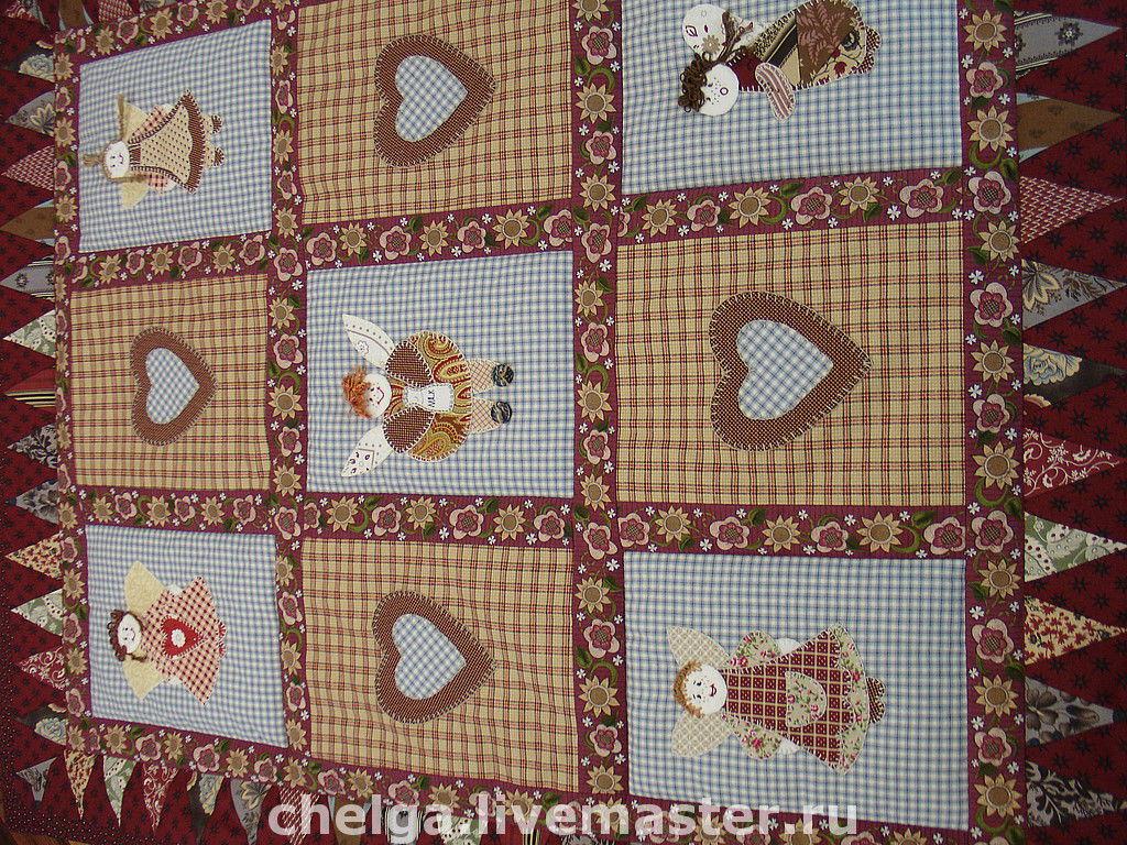 Вышивка на ткани для пэчворка 3