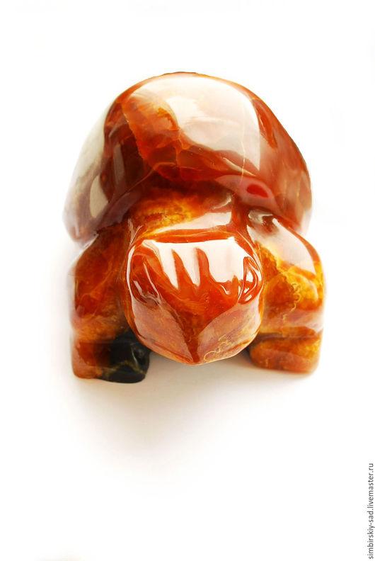 Статуэтки ручной работы. Ярмарка Мастеров - ручная работа. Купить №85 Симбирцитовая черепаха.. Handmade. Оранжевый, натуральный камень, интерьер