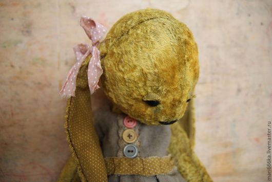 Мишки Тедди ручной работы. Ярмарка Мастеров - ручная работа. Купить Зайка Варенька. Handmade. Желтый, плюш винтажный