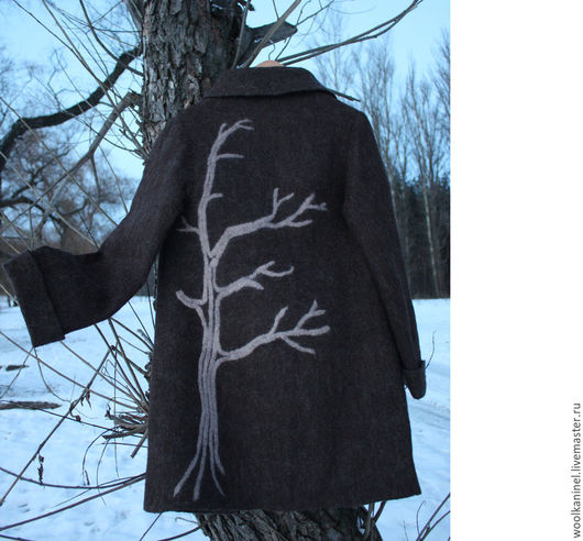 Верхняя одежда ручной работы. Ярмарка Мастеров - ручная работа. Купить Валяное пальто А-ля шинель. Handmade. Коричневый