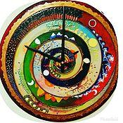 """Часы классические ручной работы. Ярмарка Мастеров - ручная работа Часы """"Времена года"""". Handmade."""