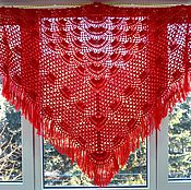 Аксессуары handmade. Livemaster - original item shawl kalinka 240x140x140 crocheted (excluding brushes). Handmade.