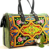 Сумки и аксессуары handmade. Livemaster - original item Shopper Bag with embroidery Large canvas women`s bag with an ornament. Handmade.