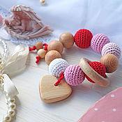 """Куклы и игрушки ручной работы. Ярмарка Мастеров - ручная работа Прорезыватель-грызунок """"Моей любимой крошке"""". Handmade."""