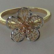 Кольца ручной работы. Ярмарка Мастеров - ручная работа Кольцо из золота Цветок. Handmade.