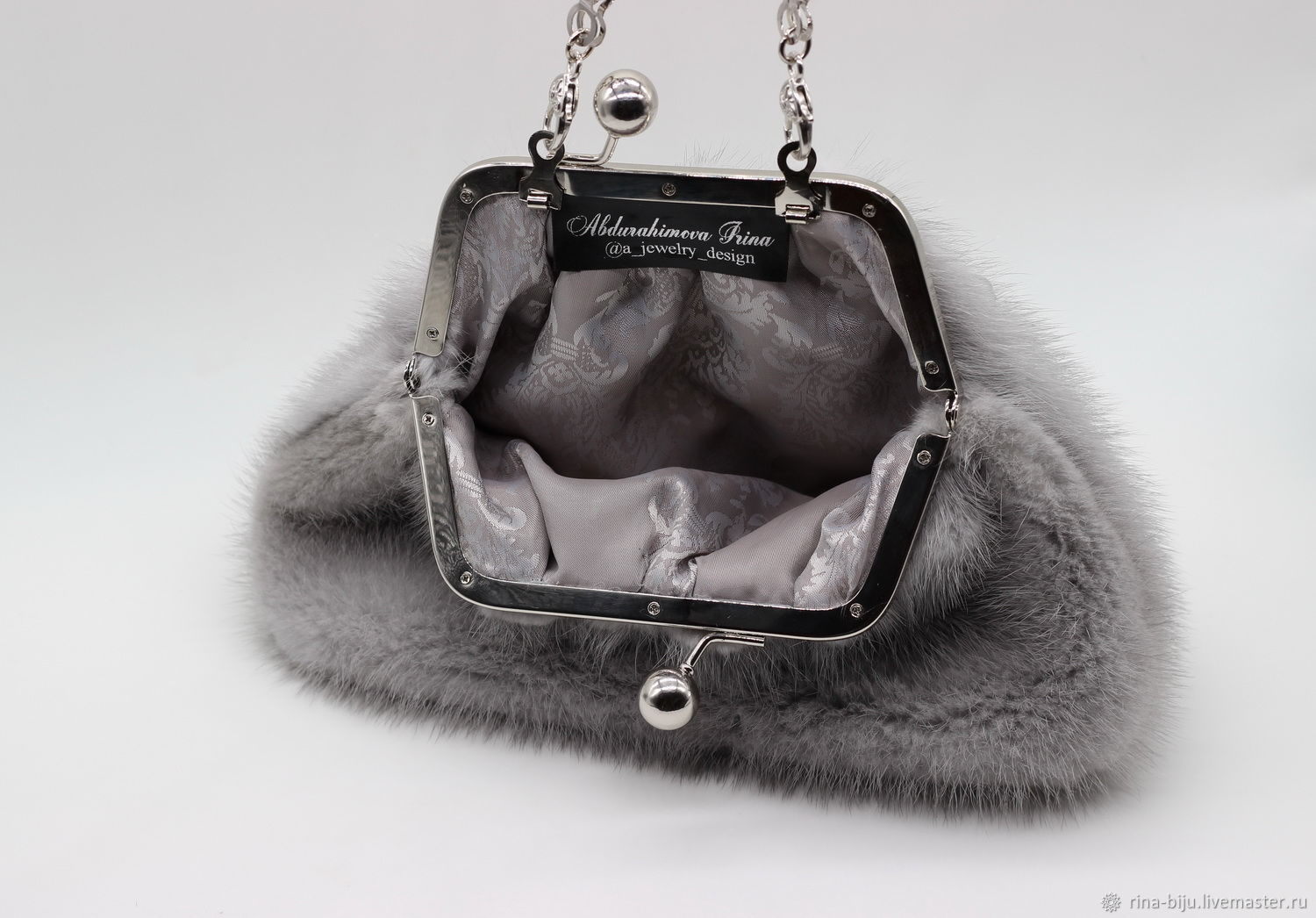 Mink Handbag With Pearl Drops A Jewelry Design My Livemaster