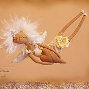 """Куклы и игрушки ручной работы. Ярмарка Мастеров - ручная работа """"Ангел с пряничным сердцем"""" - авторская кофейная куколка. Handmade."""