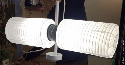 Освещение ручной работы. Ярмарка Мастеров - ручная работа. Купить Люстра ПВО. Handmade. Белый, спутник, светильник, светодиодный светильник