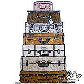 """Картины и панно handmade. Livemaster - original item Interior cork panel """" Voyage"""". Handmade."""