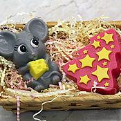 Мыло ручной работы. Ярмарка Мастеров - ручная работа Набор мыла новогодний Мышка и елочка. Handmade.