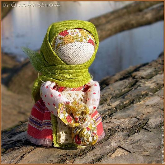 Народные куклы ручной работы. Ярмарка Мастеров - ручная работа. Купить Подорожница. Handmade. Подорожница, куколка в кармашек, обережная кукла