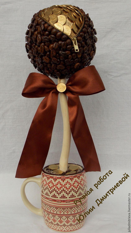 Денежное дерево как сделать из кофе