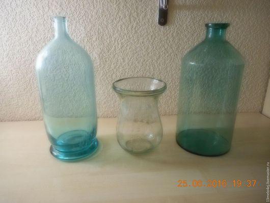 Винтажные предметы интерьера. Ярмарка Мастеров - ручная работа. Купить бутыли старинные. Handmade. Бутыль, стекло