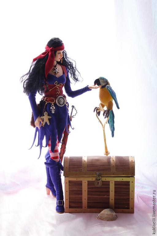 Коллекционные куклы ручной работы. Ярмарка Мастеров - ручная работа. Купить Кукла Ведьма -пиратка. Handmade. Ведьма, колдунья