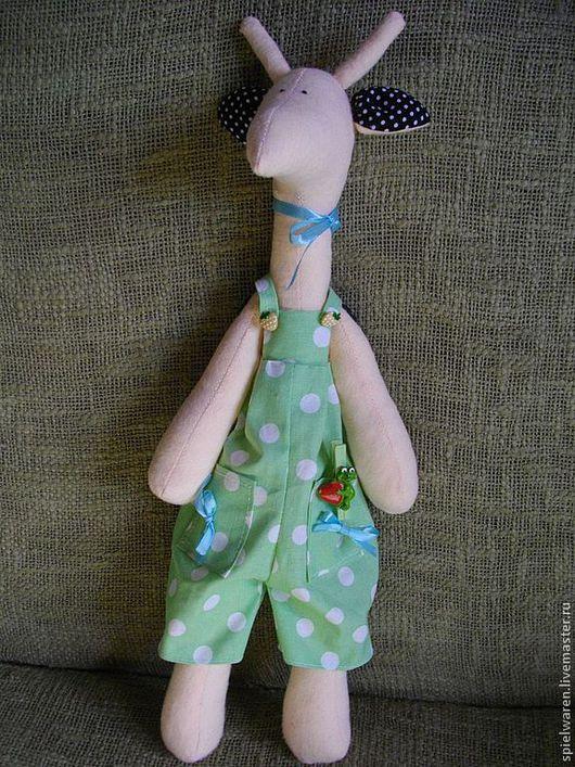 Куклы Тильды ручной работы. Ярмарка Мастеров - ручная работа. Купить Жираф Тильда. Handmade. Жираф, игрушка для детей, холлофайбер
