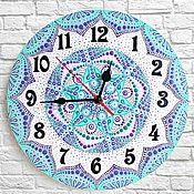 Для дома и интерьера handmade. Livemaster - original item Mandala wall clock, hand-painted acrylic. Handmade.