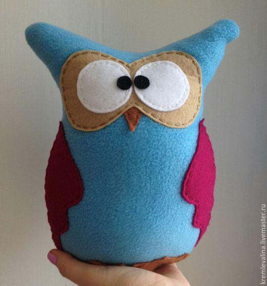 Текстиль, ковры ручной работы. Ярмарка Мастеров - ручная работа. Купить Мягкая игрушка Сова (голубая). Handmade. Подушка-игрушка