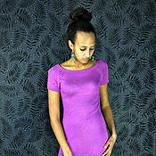 Одежда ручной работы. Ярмарка Мастеров - ручная работа Платье цвета фуксия из вискозы и бамбука. Handmade.