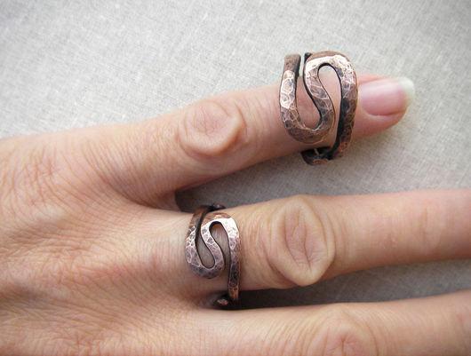 Свадебные украшения ручной работы. Ярмарка Мастеров - ручная работа. Купить Кольца на медную свадьбу. Handmade. Кольца, медь