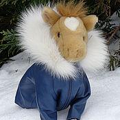 Для домашних животных, ручной работы. Ярмарка Мастеров - ручная работа Кожаное пальто/плащ с отделкой песцом. Handmade.