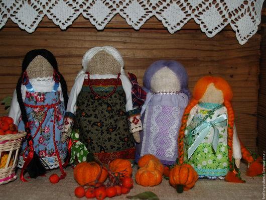 Народные куклы ручной работы. Ярмарка Мастеров - ручная работа. Купить Осенюшки-лапушки))). Handmade. Оберег, народная кукла, травы