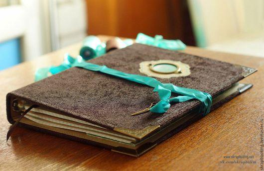 Блокнот «Шоколад+бирюза» мастерская Living History