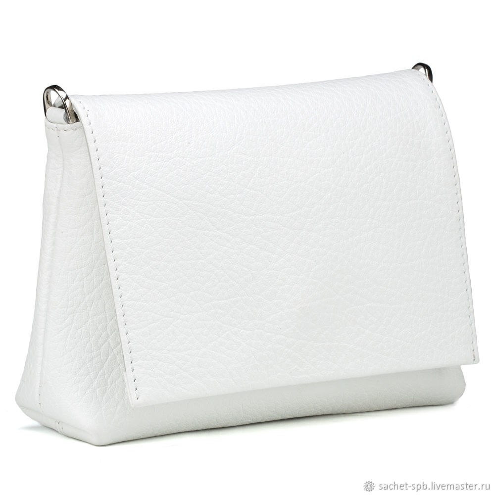 Women's leather bag 'Angelina' (white), Classic Bag, St. Petersburg,  Фото №1