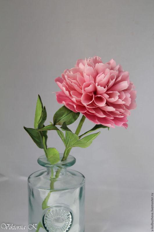 Цветы ручной работы. Ярмарка Мастеров - ручная работа. Купить Пион из полимерной глины. Handmade. Розовый, полимерная глина