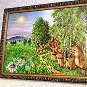 Картина маслом - Пчелы и Медведица