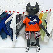 Куклы и игрушки handmade. Livemaster - original item Big cat toy with clothes. Handmade.