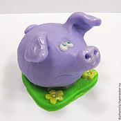 Косметика ручной работы handmade. Livemaster - original item Soap Pig on the grass. Handmade.