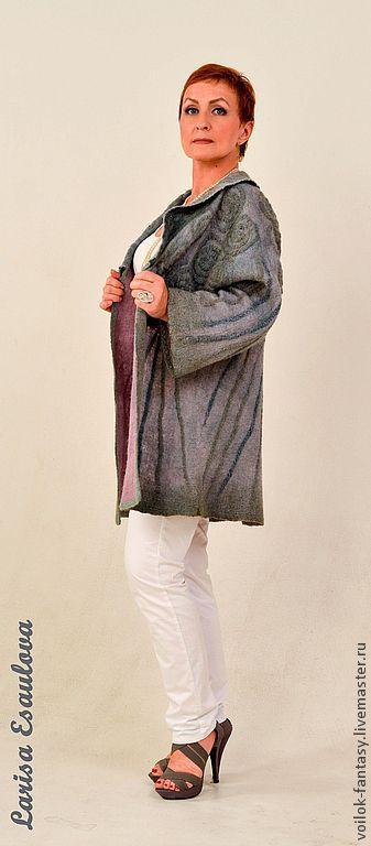 """Пиджаки, жакеты ручной работы. Ярмарка Мастеров - ручная работа. Купить Летнее пальто  """" Утренняя дымка """". Handmade."""