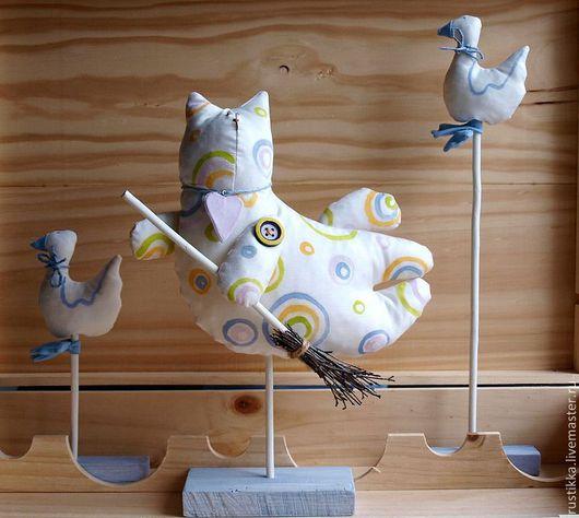 Статуэтки ручной работы. Ярмарка Мастеров - ручная работа. Купить Текстильные игрушки. Handmade. Белый, гуси, текстиль
