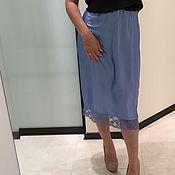 Одежда handmade. Livemaster - original item Silk skirt YULIYALEV. Handmade.