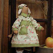 """Куклы и игрушки ручной работы. Ярмарка Мастеров - ручная работа Зайка. Текстильная игрушка. """"Яблочный спас"""" (Продана). Handmade."""