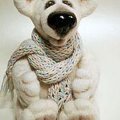 Куклы и игрушки ручной работы. Ярмарка Мастеров - ручная работа Белый мишка. Handmade.