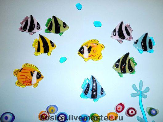 Декор поверхностей ручной работы. Ярмарка Мастеров - ручная работа. Купить Рыбки красного моря , декор для кафеля и зеркал. Handmade.