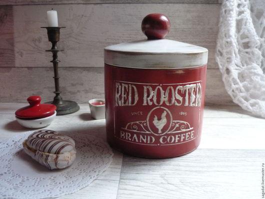 Корзины, коробы ручной работы. Ярмарка Мастеров - ручная работа. Купить Короб большой ,,Red rooster,,. Handmade. Ярко-красный, петух