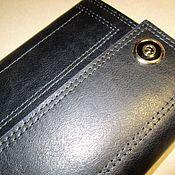 Сумки и аксессуары handmade. Livemaster - original item Purse-clutch No. 3 t-blue. large purse. A good purse. Handmade.