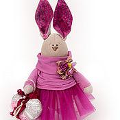 Куклы и игрушки ручной работы. Ярмарка Мастеров - ручная работа Интерьерная зайка Фуксия. Handmade.