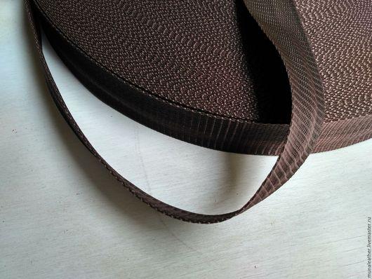 Шитье ручной работы. Ярмарка Мастеров - ручная работа. Купить Ременная стропа 40 мм коричневый, черный. Handmade. Коричневый