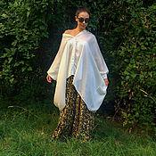 Одежда handmade. Livemaster - original item White chiffon blouse - ELISABETHA. Handmade.