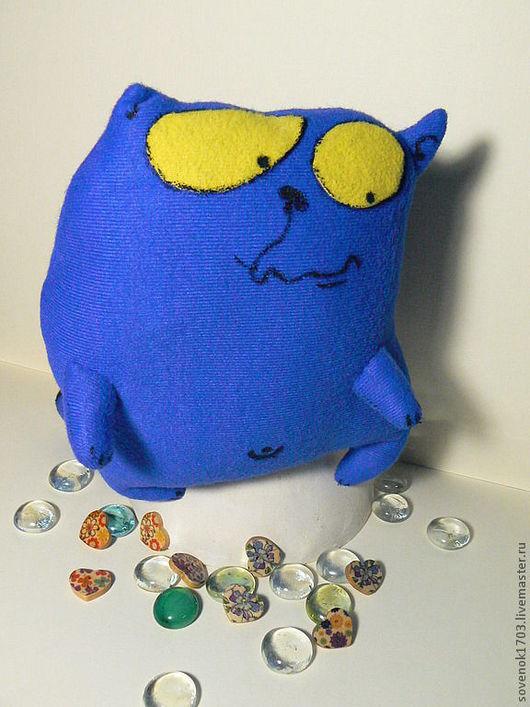 """Игрушки животные, ручной работы. Ярмарка Мастеров - ручная работа. Купить Кот """"Обормот"""".. Handmade. Синий, сувениры и подарки, трикотаж"""