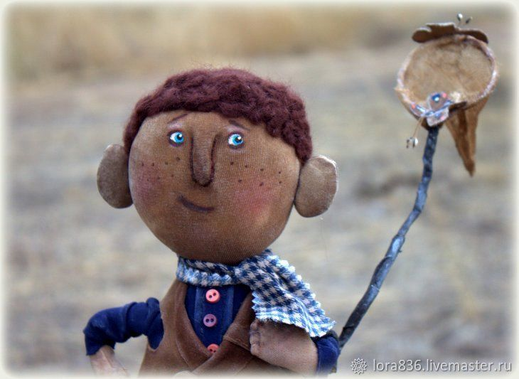 On the farm to catch butterflies(Collectible doll), Dolls, Volzhsky,  Фото №1