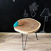 Столы ручной работы. Ярмарка Мастеров - ручная работа Кофейный столик из дуба с озером. Handmade.
