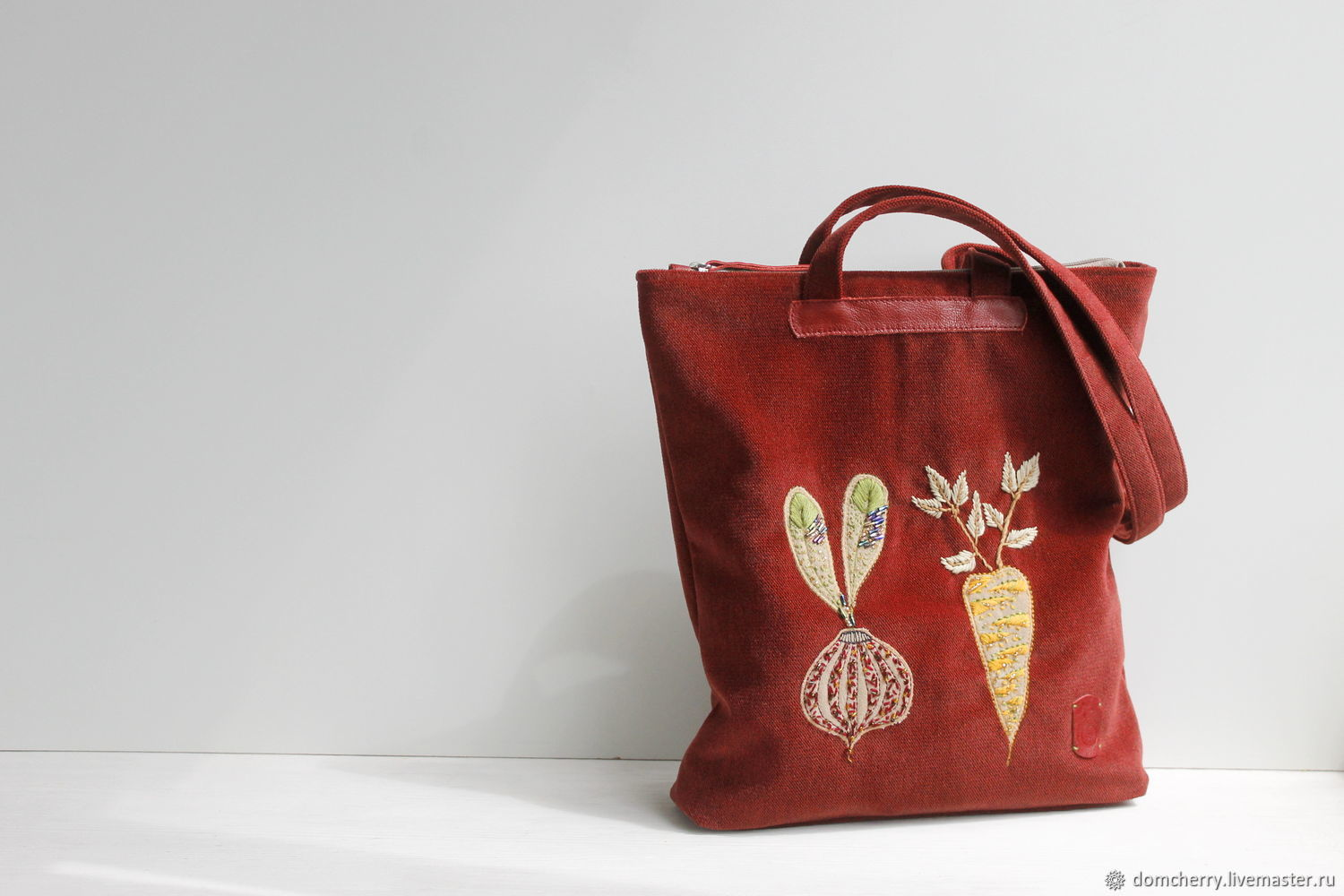 Copy of Textile bag with embroidery. The bag is summer female, Classic Bag, Pskov,  Фото №1