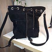 Рюкзаки ручной работы. Ярмарка Мастеров - ручная работа Рюкзак-сумка из натуральной замши модель 5. Handmade.