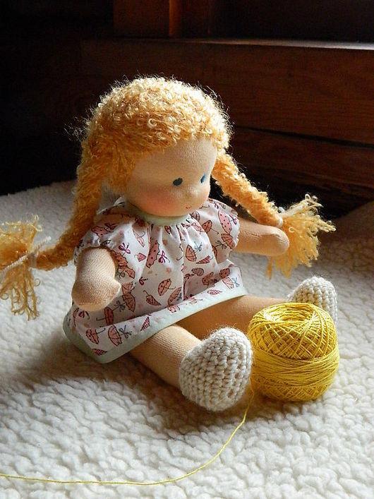 Вальдорфская игрушка ручной работы. Ярмарка Мастеров - ручная работа. Купить Неваляшка Татоша, вальдорфская кукла 30см. Handmade. шерсть