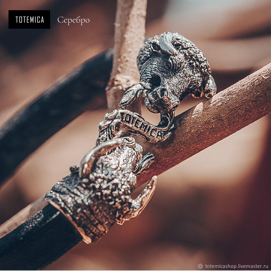 Silver Bracelet with Bulls (Taurus) | Skin, Regaliz bracelet, Moscow,  Фото №1
