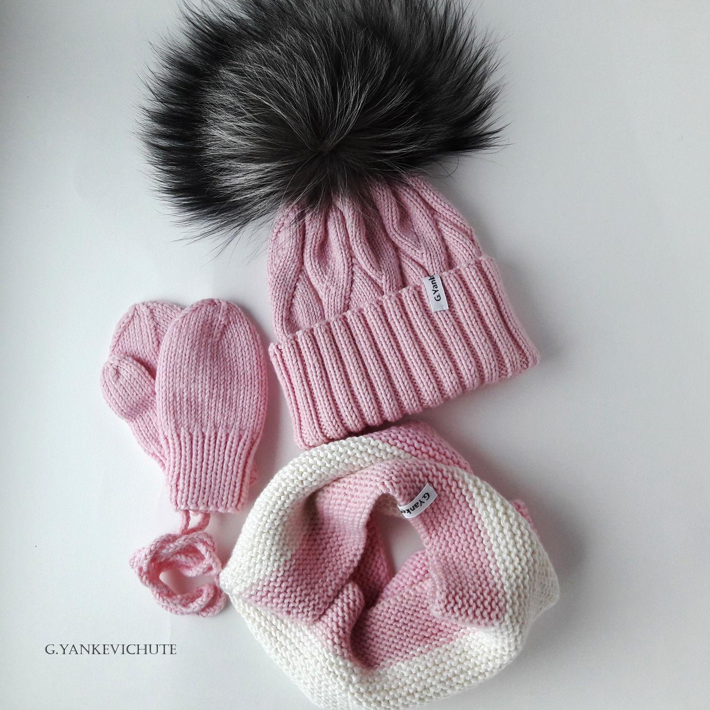 Как сделать вязаную шапку из меха